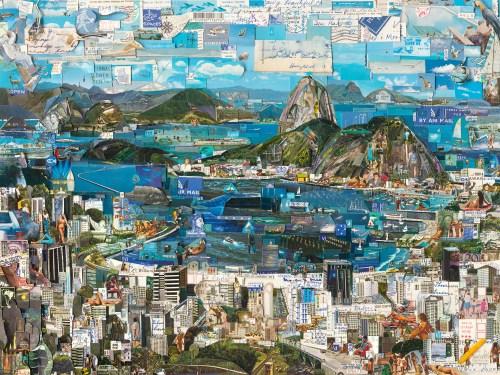 Vik Muniz, Rio de Janeiro, Postcards from Nowhere series, 2013, Digital C-print, 180,3 x 240,3cm, Courtesy of the artist and Galeria Nara Roesler