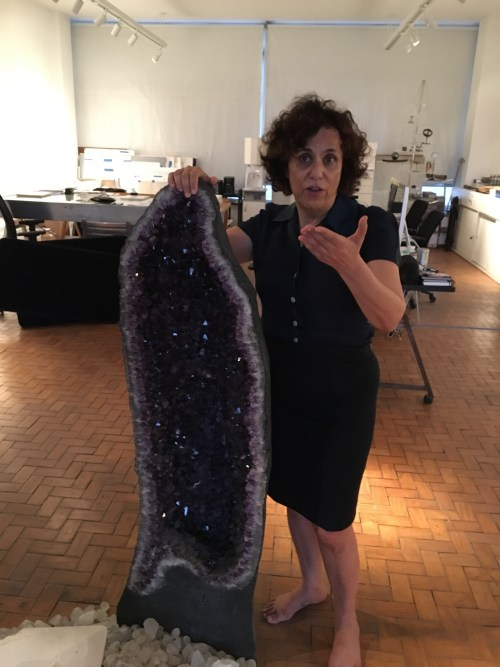 Our invaluable host and friend, Denise Milan, shows us her studio with her crystals