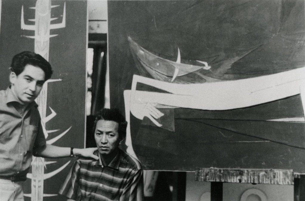 Vigas in Cuban artist Wifredo Lam's studio at Villa d'Alesia, Paris, 1954