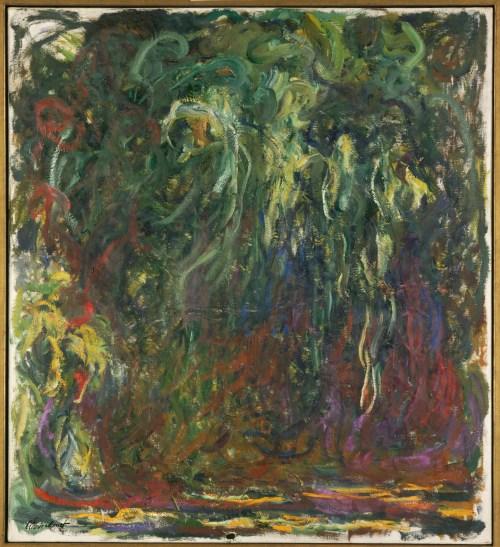 """Claude Monet (1840-1926), """"Saule pleureur"""" [Salgueiro-chorão], entre 1920 et 1922 Óleo sobre tela, 110 x 100 cm Paris, Musée d'Orsay © RMN-Grand Palais (musée d'Orsay) / Adrien Didierjean"""