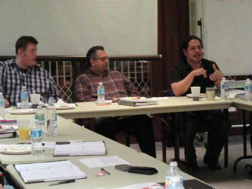 Jamil Khoury, Malik Gillani and Edward Torres, Mosque Alert. Photo: Silk Road Rising.