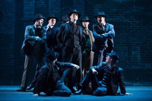 "Jeff Brooks and ensemble members of ""Bullets Over Broadway.""/Photo: Matthew Murphy"