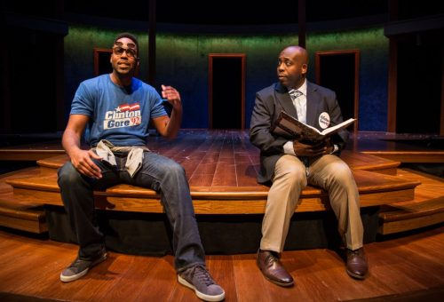 "Levenix Riddle and James Earl Jones II in ""Carlyle"" at Goodman Theatre/Photo: Liz Lauren"