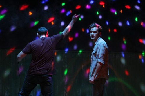 "Nick Horst and Carson Schroeder in ""Bobbie Clearly"" at Steep Theatre/Photo: Gregg Gilman."