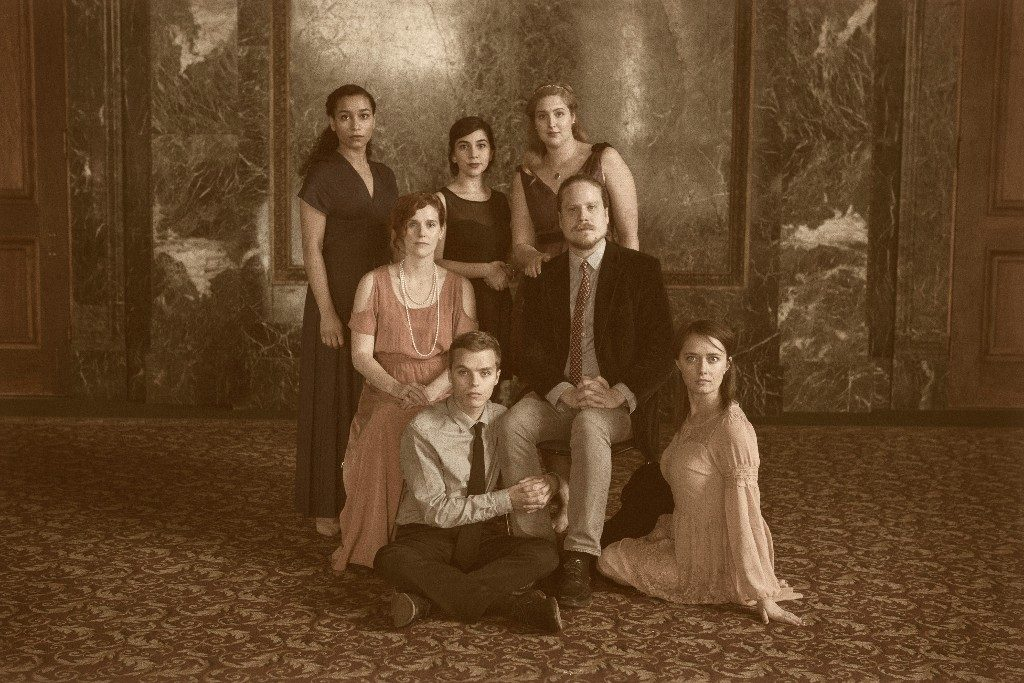 "The cast of ""Cosmic Events Are Upon Us"" at Waltzing Mechanics"