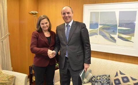 Image result for nuland with parubiy