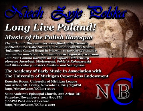 New Comma Baroque – Niech Żyje Polska: Long Live Poland! – Music of the Polish Baroque