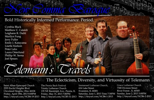 New Comma Baroque - 'Telemann's Travels - The Eclecticism, Diversity, and Virtuosity of Telemann''