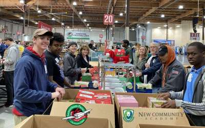 Volunteering at Operation Christmas Child