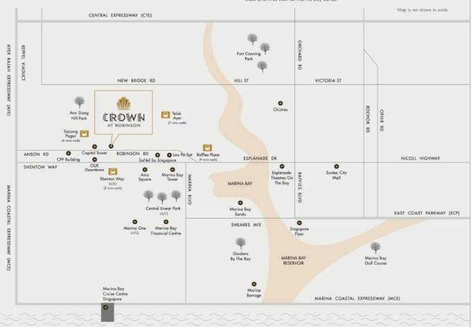 Crown @ Robinson - Location Map