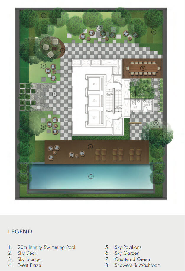 Crown @ Robinson - Site Plan 6th Storey Sky Gallery