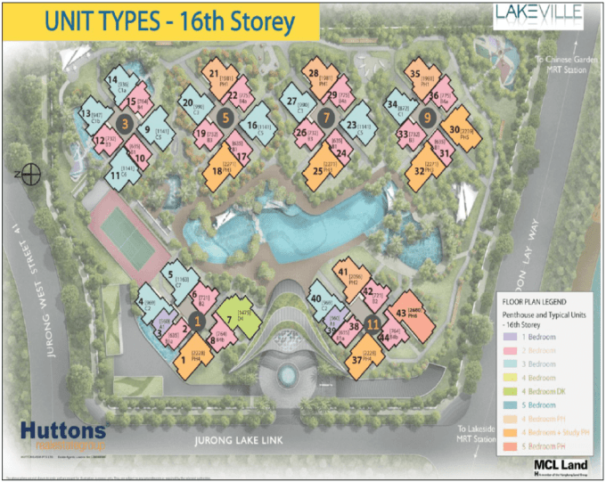 New Condo Launch - LakeVille - Site Plan 16th Storey