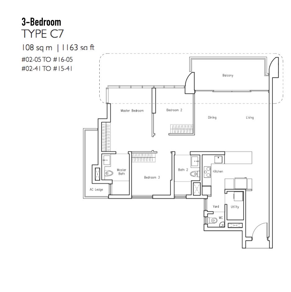 New Condo Launch - LakeVille - Floor Plan Type C7