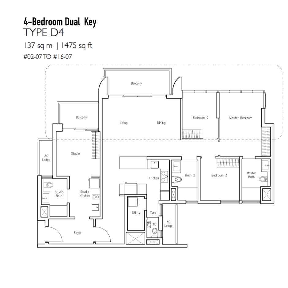 New Condo Launch - LakeVille - Floor Plan Type D4