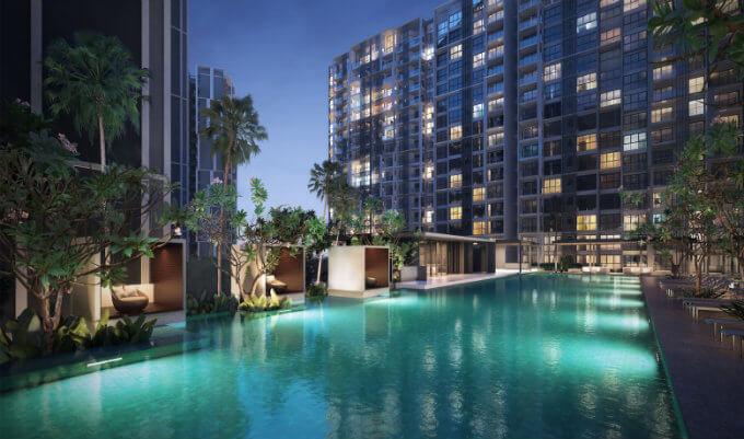 Singapore Condominium - Botanique @ Bartley - Lap Pool