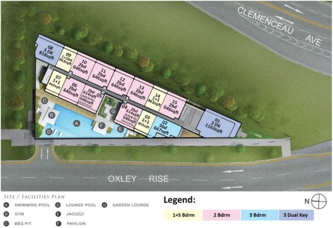 The Rise @ Oxley Residences - Residential Site Plan