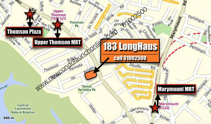 183 LongHaus - Sg Property - Location Map With 2 MRTs