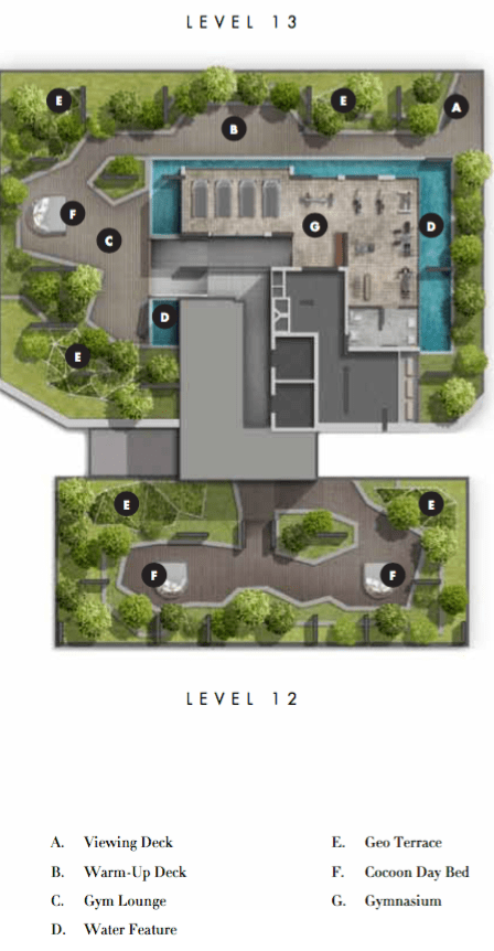 Highline Residences - Singapore Condo For Sale - Site Plan At Level 12 and 13