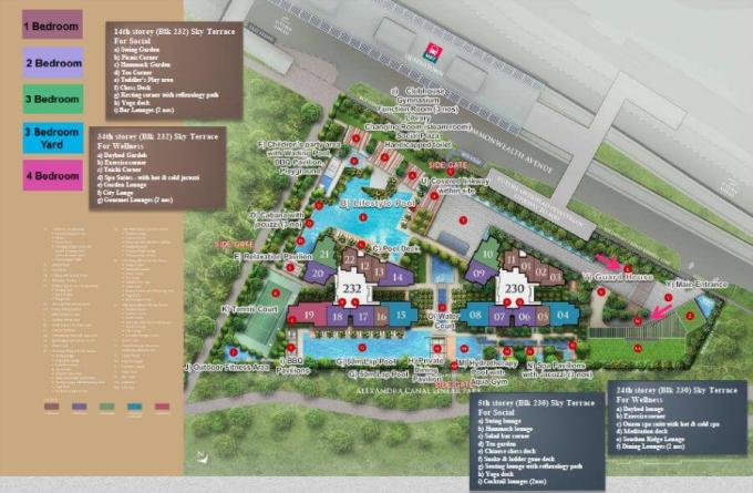 Commonwealth Towers Site Plan With Facilities - Singapore Condominium