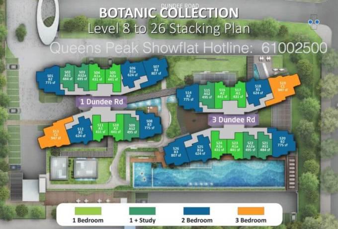 Queens Peak Site Plan Level 8 to 26