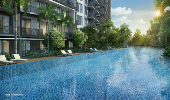 Forest Woods Lap Pool 75m - Condo Singapore