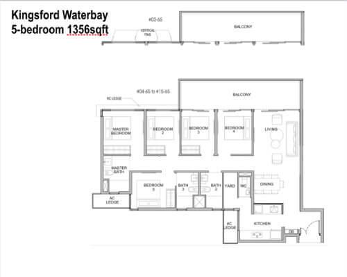 Kingsford Water - Floor Plan 5br 1356sf