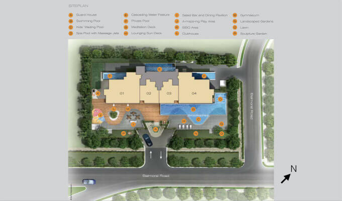 Three Balmoral - Site Map - New Condo Singapore