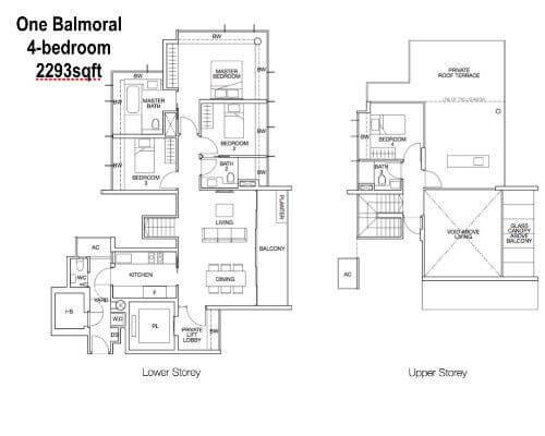 One Balmoral Floor Plan 3-Bedroom 2293sqft