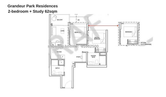 Grandeur Park Residences 2br + Study 62sqm