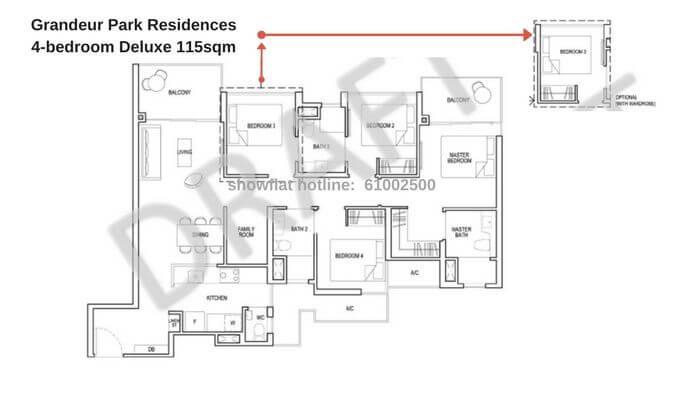 Grandeur Park Residences 4br Deluxe 115sqm