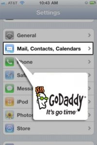 godaddy email on the iphone