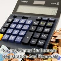 Saving money on domain registration and renewals