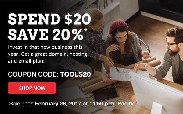 20% off when you spend $20 or more