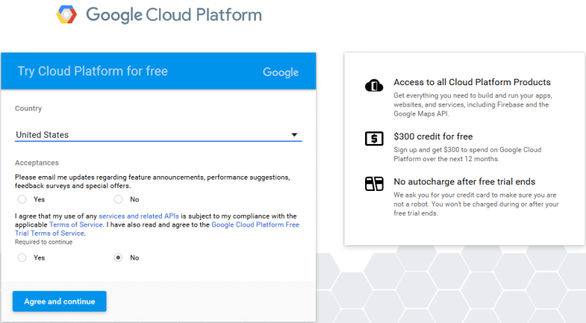 Try Google Cloud Platform for Free with Bonus $300 in Credit