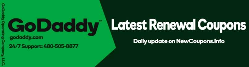 The Latest GoDaddy Renewal Coupon October 2019