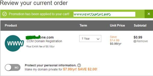 How to check the valid coupon of GoDaddy