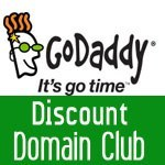 Latest 40% off GoDaddy discount domain club coupon