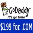 GoDaddy Coupon $1.99/year for a .Com domain