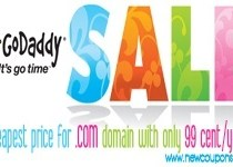 Godaddy 99 Cent Domain Coupon Codes in November 2018