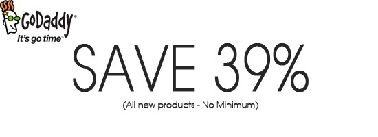 GoDaddy Promo Code for Save 39% on new Products in Dec 2014