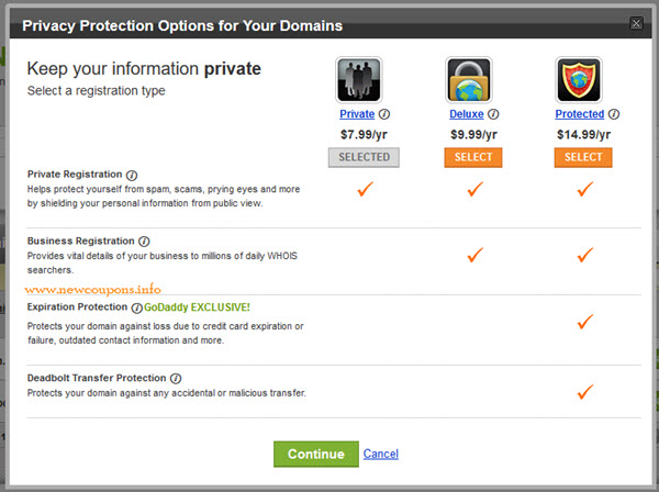How to Add or Cancel Private Registration at GoDaddy