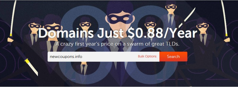 Register Domains For Just 88 Cent at NameCheap