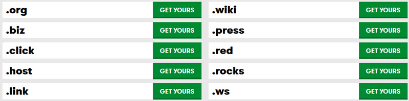 Huge Domain Sale from GoDaddy: $0.99, $4.99, or $9.99