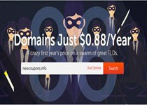 Domains only 88 cent at NameCheap in March 2017