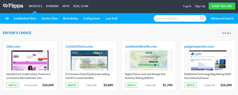 how to sell website at flippa