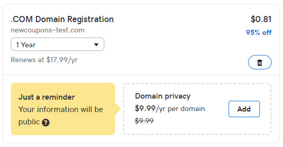 Special Offer: Register .COM For Only 81 Cents at GoDaddy