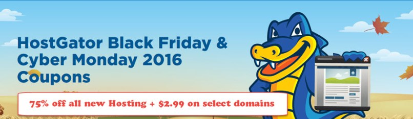HostGator Black Friday & Cyber Monday 2016 Coupons