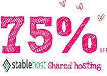 New StableHost Coupons – 75% off for Life