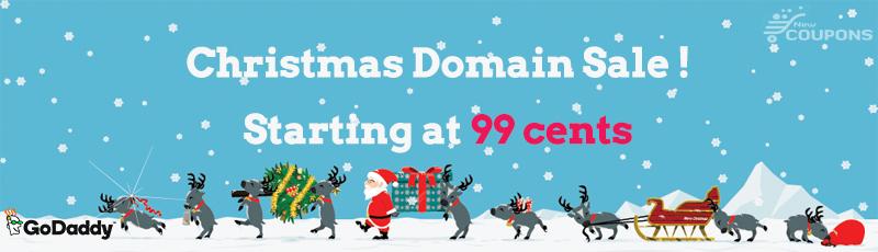 GoDaddy Christmas Offer: Register domains starting at $.99