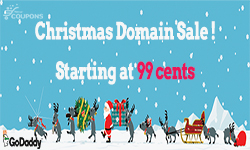 godaddy domain 99 cent christmas promotion